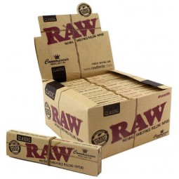 Raw Connoisseur Rolling Papers + Tips