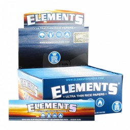 Elements Papers - King Size Slim - 50 Count Elements papers are 100% toxic free rolling papers and  famous for their pure ash free burning...