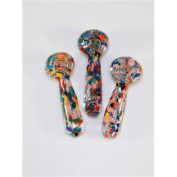 3'' Confetti Color Glass Hand Pipe