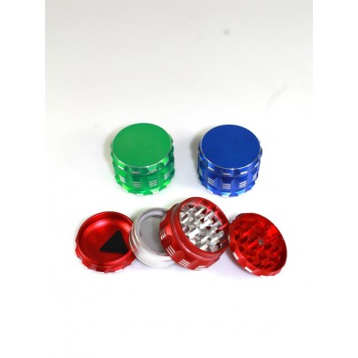 4 Part Aluminium  Assorted Color Grinder 63 MM
