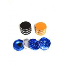 4 Part Ribbed Design Aluminium Color Grinder 63 MM
