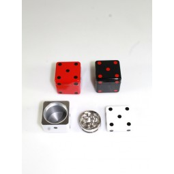 3 Part Dice Design Square Shape  Grinder