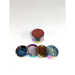 4 Part Chromium Crusher Rainbow Color Grinder 63 MM