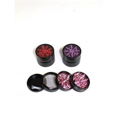 4 Part Clear Top Design With Color Aluminium Grinder 56 MM