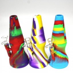 8'' Silicone Multi Color Cone Shape Water Pipe With Bowl