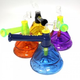 6.5'' Beaker Base Colorful Dab Rig Water Pipe With 14 MM Male Bange