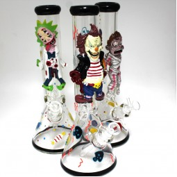 14'' Beaker Glow in The Dark With Character Design Heavy Water Pipe G -G