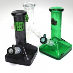 7'' Square Base New Design Solid Color Water Pipe G-G