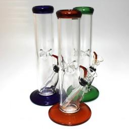 10'' Flat Bottom Tube Color Straight Water Pipe - Regular