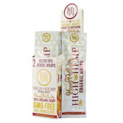High Hemp  Organic 25 Pouches 2 Wraps Per Pouch