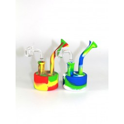 5'' Silicone Multi Color Dab rig With 14 MM Male Banger