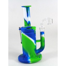7'' Silicone Arm Design Water Pipe With 4 MM Quartz   Banger
