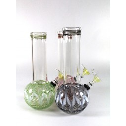 8'' Round (Made in USA )  Regular water pipe with Slide Bowls