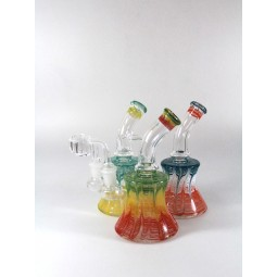 7'' Art Color Base dab Rig With 14 MM Male Banger